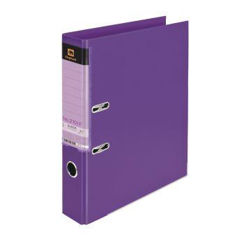 (LD118389) แฟ้มคลิปก้านยกตราช้างรุ่น 2101F สีม่วง แพ็ค 3 เล่ม