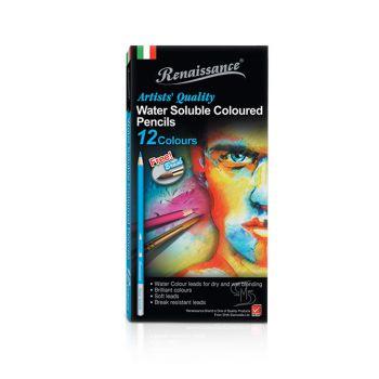 (LD130169) เรนาซองซ์ดินสอสีระบายน้ำ 12 สี