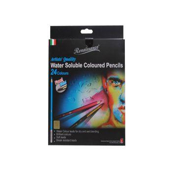 (LD130176) เรนาซองซ์ดินสอสีระบายน้ำ 24 สี