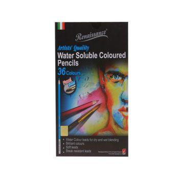 (LD131968) เรนาซองซ์ดินสอสีระบายน้ำ 36 สี