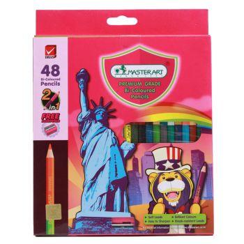 (LD161811) มาสเตอร์อาร์ตดินสอสี 2 หัว 48 สี