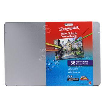 (Clearance) สีไม้ระบายน้ำ Renaissance กล่องเหล็ก 36 สี (SD167950)