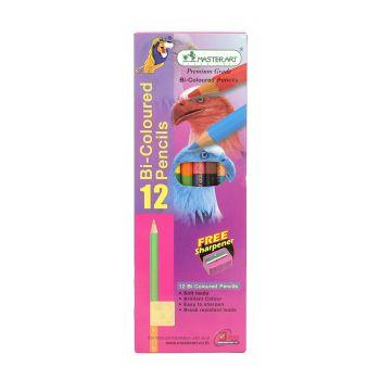 (LD199463) ดินสอสีมาสเตอร์อาร์ต  2 หัว 12 สี