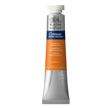 สีน้ำ Winsor & Newton Cotman 21 มล. เบอร์ 090 Cadmium Orange Hue