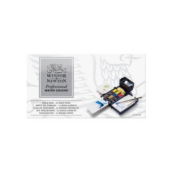 สีน้ำ Winsor & Newton ชุด 12 สี AWC Field Box #0190685