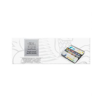 สีน้ำ Winsor & Newton ชุด AWC 24สี Light Box #0190553
