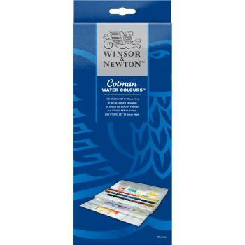 ชุดสีน้ำก้อน สตูดิโอ 24 สี Winsor & Newton รุ่น 0390084