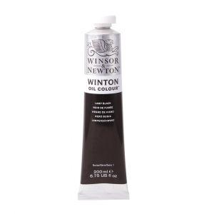 สีน้ำมัน Winsor & Newton Winton 200 มล. เบอร์ 337 Lamp Black