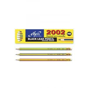 ดินสอดำ Elfen #2002 HB (กล่อง 12 แท่ง) (คละสี)