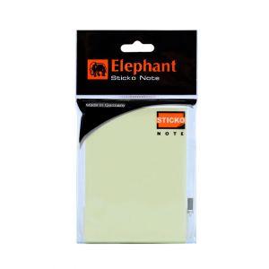 กระดาษโน๊ตแถบกาว ตราช้าง สีเหลือง 3x4