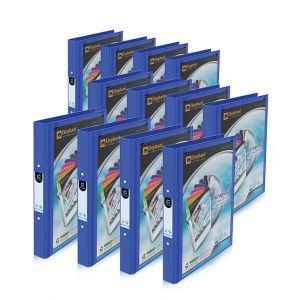 Set : แฟ้ม 2 ห่วง ปกดูราพลาส 221V/B สีน้ำเงิน ตราช้าง จำนวน 12 เล่ม