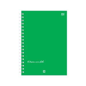 สมุดบันทึกริมลวด ตราช้าง FMW-103 ขนาด B5 สีเขียว (คละลาย)