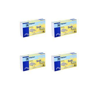 ลวดเย็บกระดาษnเบอร์ 10 ตราช้าง รุ่นซอฟท์คลิ๊ก(แพ็ค 4 กล่อง)