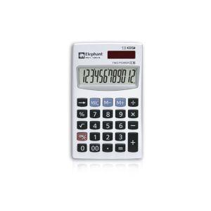 เครื่องคิดเลข 12 หลัก ตราช้าง รุ่น P01-12D สีเงิน