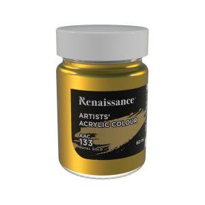 สีอะคริลิค Renaissance 60 มล. เบอร์ 133 Royal Gold