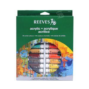 สีอะคริลิค Reeves ชุด 24 สี x10 มล. #8493202