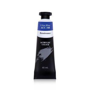 สีอะคริลิค Renaissance 45 มล. เบอร์ 340 Ultra Blue