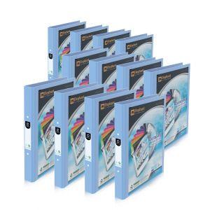 Set : แฟ้ม 2 ห่วง 221V/B สีพาสเทล (เบบี้บลู) จำนวน 12 เล่ม