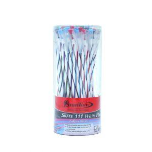 ปากกาลูกลื่น Quantum SKATE 111 White Plus หมึกน้ำเงิน (คละสี) (กระบอก 50 แท่ง)