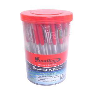 ปากกาลูกลื่น Quantum Neo 7 แดง (กระบอก 50 แท่ง) (1 แถม 1)