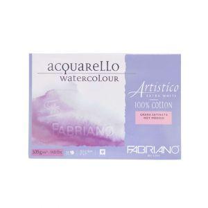 กระดาษวาดภาพ Fabriano Artistico 300แกรม ผิวหยาบ ขนาด12.5x18cm 25 แผ่น