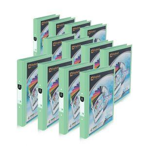Set : แฟ้ม 2 ห่วง 221V/B สีพาสเทล (อความารีน) จำนวน 12 เล่ม