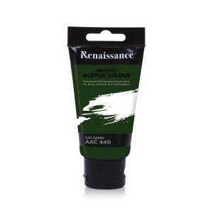 สีอะครีลิค Renaissance 75 มล. เบอร์ 440 Sap Green