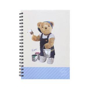 สมุดบันทึกริมลวด Master Art & Teddy ขนาด B5 80 แผ่น