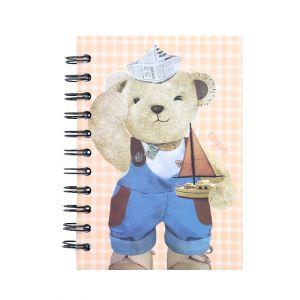 สมุดบันทึกริมลวด Master Art & Teddy ขนาด A6 80 แผ่น (คละลาย)