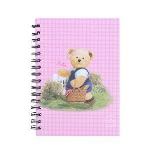 สมุดบันทึกริมลวด Master Art & Teddy ขนาด A5 80 แผ่น