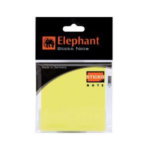 กระดาษโน๊ตแถบกาว ตราช้าง ขนาด 3x3 นิ้ว นีออน เหลือง (40แผ่น)