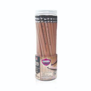 ดินสอดำ Master Art เกรด 2B ลายไม้ (กระบอก 50 แท่ง)