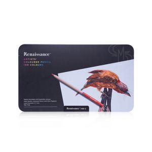 สีไม้ Renaissance เกรดอาร์สติส 100 สี กล่องเหล็ก