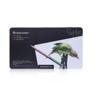 สีไม้ Renaissance เกรดอาร์สติส 72 สี กล่องเหล็ก