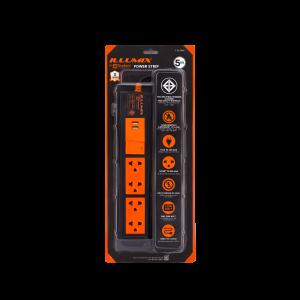 ปลั๊กไฟ ตราช้าง Illumix รุ่น 4105T USB 4 ช่อง1 สวิตซ์ 5 เมตร