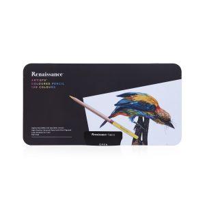 สีไม้ Renaissance เกรดอาร์สติส 120 สี กล่องเหล็ก
