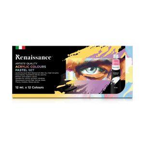 สีอะคริลิค Renaissance รุ่นพาสเทล เซท 12 สี