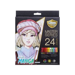 สีไม้ Master Art แท่งยาว 24 สี รุ่น มังงะ