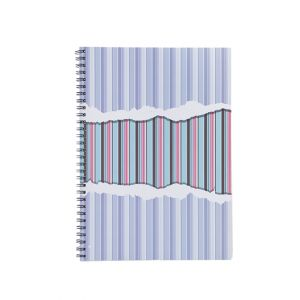 สมุดบันทึกปกกระดาษ ตราช้าง รุ่น W-102 ขนาด B5 (คละลาย)