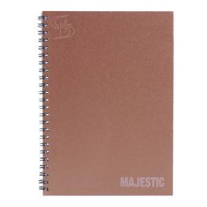 สมุดบันทึกปกแข็งริมลวด ตราช้าง รุ่น MAJESTIC-201 ขนาด A5 (คละสี)