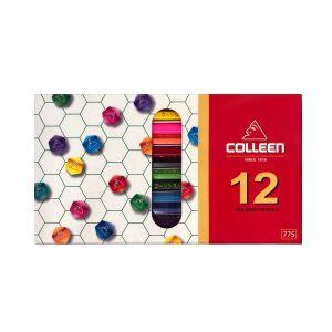 สีไม้คอลลีน 12 สี 12 แท่ง กล่องกระดาษ