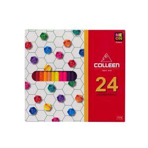 สีไม้ Colleen 24 สี 24 แท่ง กล่องกระดาษ