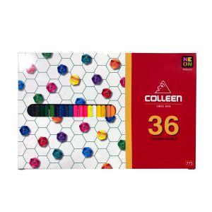 สีไม้ Colleen 36 สี 36 แท่ง กล่องกระดาษ