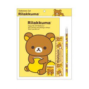 ชุดเซ็ทเครื่องเขียน Rilakkuma - 020 (สมุด, ดินสอไม้x1, ยางลบดินสอ, ไม้บรรทัด15cm)