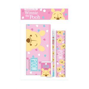 ชุดเซ็ทเครื่องเขียน Pooh - 039 (กระเป๋าดินสอ, ดินสอไม้x1, ยางลบดินสอ, ไม้บรรทัด15cm)