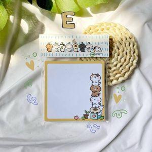 กระดาษโน้ต 9x9 ซม. 50 แผ่น (E)