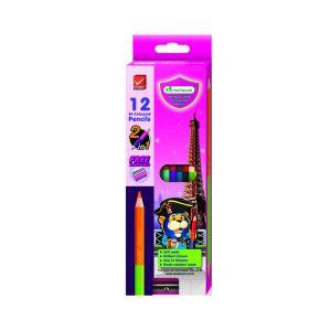 (Clearance) สีไม้ Master Art 2 หัว 12 สี (แพ็ค 3 กล่อง) (SD096854)