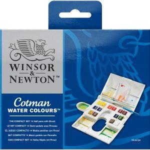 สีน้ำ Winsor & Newton ชุดคอตแมนคอมแพคเซท เบอร์ 0390083