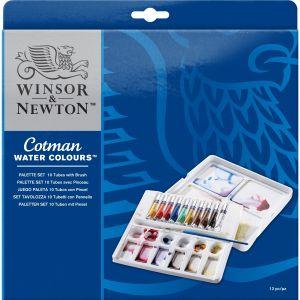 จานสี Winsor & Newton ชุดเซ็ท 10x8 มล. รุ่น 0390646